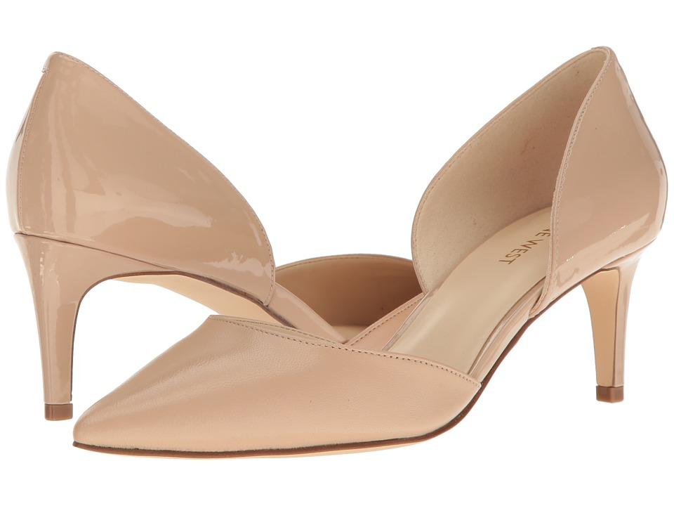 Nine West - Solis (Nude Patent PU/Nude Suede) High Heels