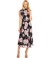 Taylor - Floral Print Chiffon Maxi with Tie Back