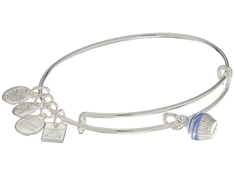 Alex and Ani Charity By Design Seaside Cupcake II Bangle - Shiny Silver