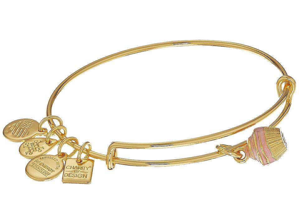 Alex And Ani Charity By Design Cupcake II Bangle (Shiny Gold) Bracelet