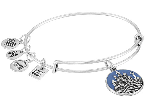 Alex and Ani Charity By Design Seaside Sand Castle Bangle - Rafaelian Silver
