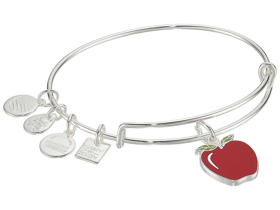 Alex And Ani Charity By Design Apple Bangle (Shiny Silver...
