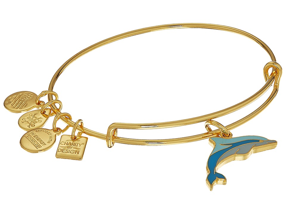 Alex And Ani Charity By Design Dolphin Bangle (Shiny Gold...
