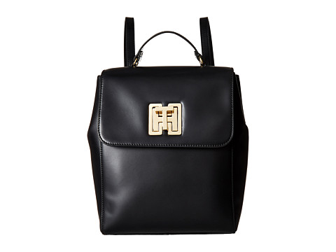 Tommy Hilfiger TH Twist Smooth Leather Backpack - Black