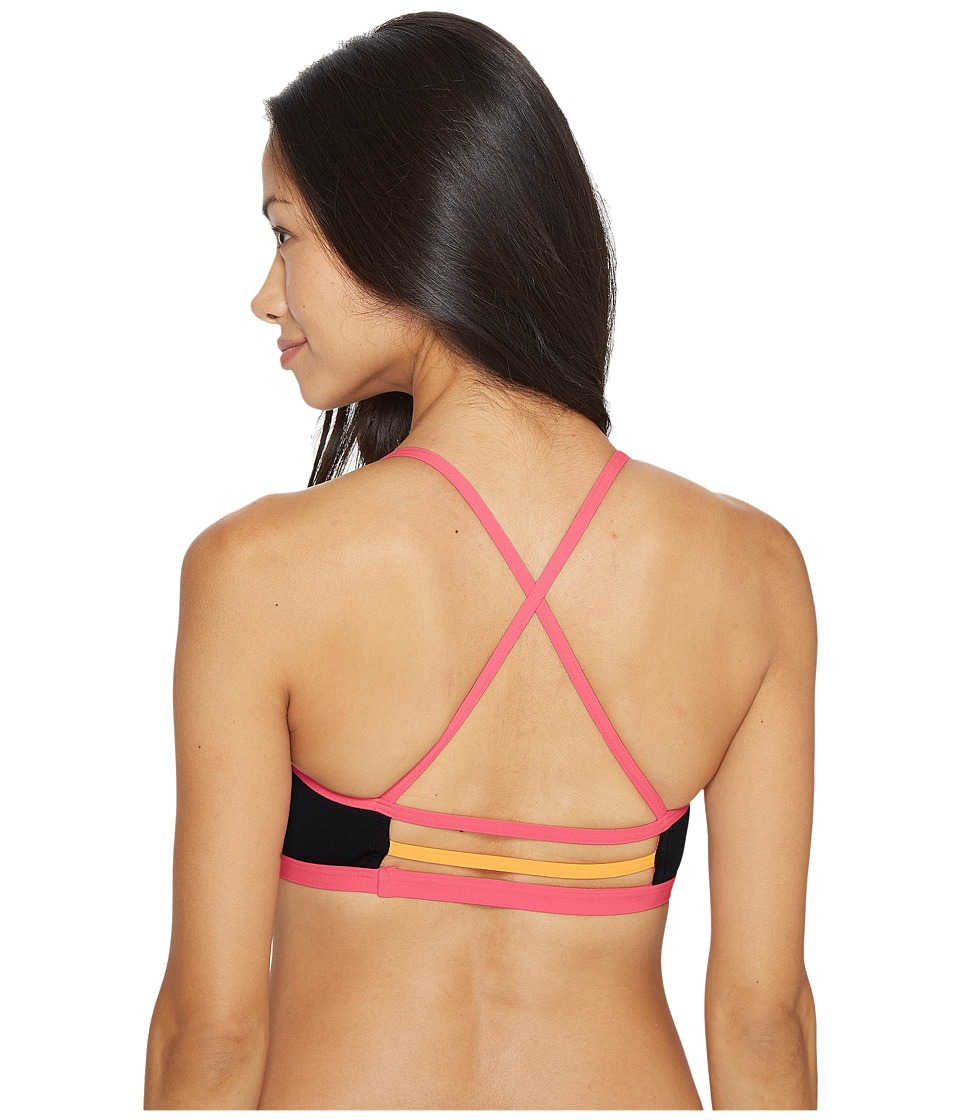 TYR Solid Trinity Top (Black/Pink) Women