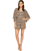 ROMEO & JULIET COUTURE - Woven V-Neck Printed Dress