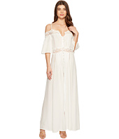 ROMEO & JULIET COUTURE - Cold Shoulder Elbow Sleeve Maxi Dress