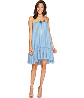 ROMEO & JULIET COUTURE - Chambray Tassle with Raw Hem Dress