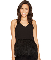 ROMEO & JULIET COUTURE - Knit Feather Detail Top