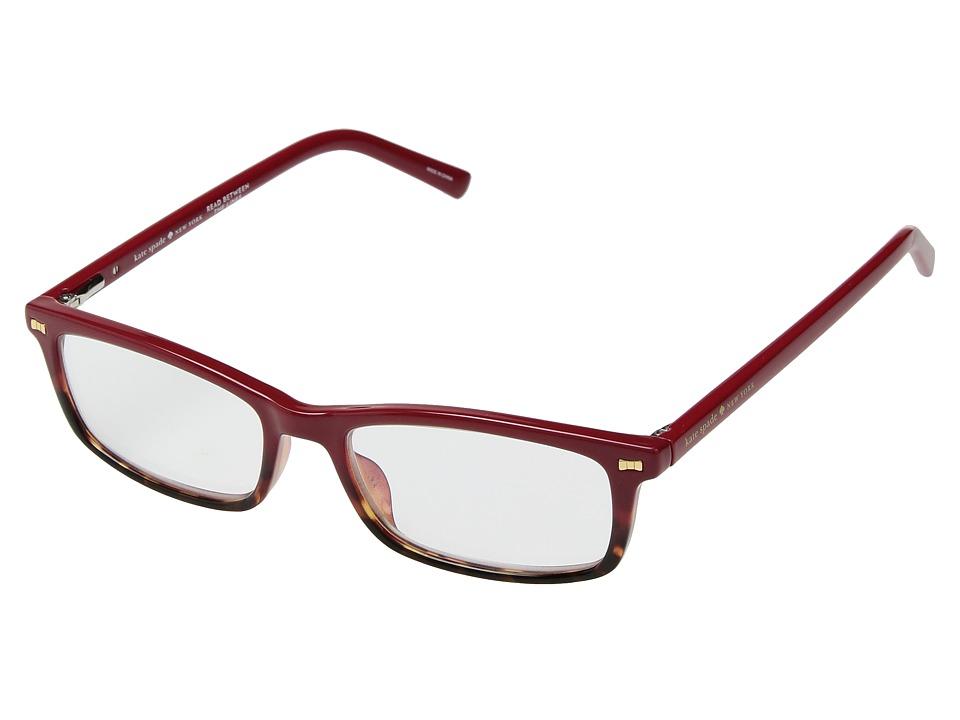 Kate Spade New York - Jodie (Red Havana) Reading Glasses ...