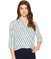 ROMEO & JULIET COUTURE - Cross Over Stripe Top
