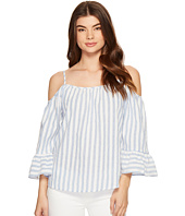 ROMEO & JULIET COUTURE - Cold Shoulder Stripe Top