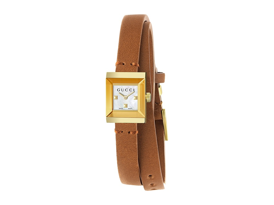 Gucci - G-Frame Square - YA128521 (Brown) Watches -  adult