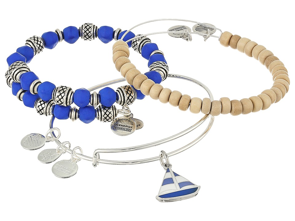 Alex and Ani - Seaside Sailboat Bracelet Set of 3