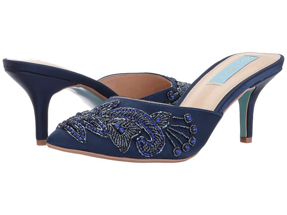 Blue by Betsey Johnson Coset (Navy Satin) Women