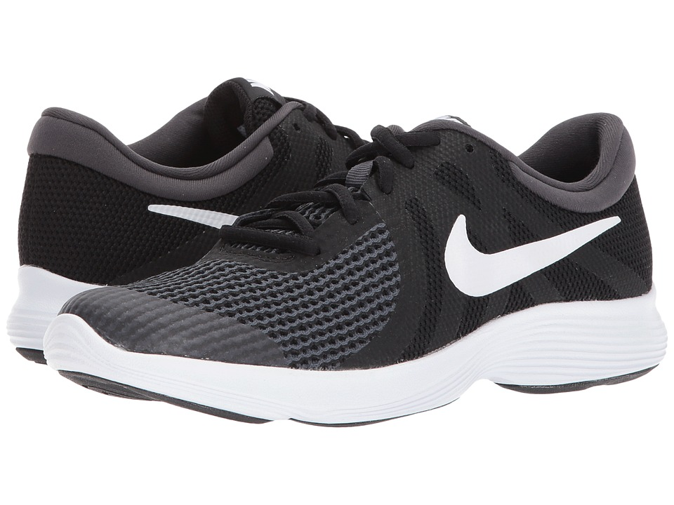 Nike Kids Revolution 4 (Big Kid) (Black/White/Anthracite) Boys Shoes