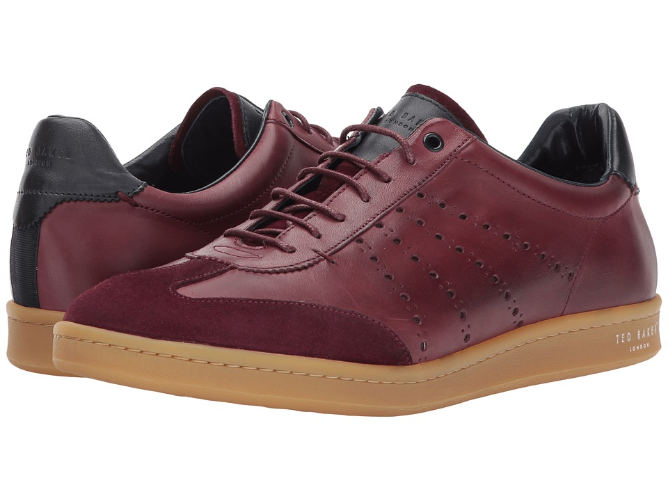 Ted Baker Orlee (Dark Red Leather) Men's Shoes