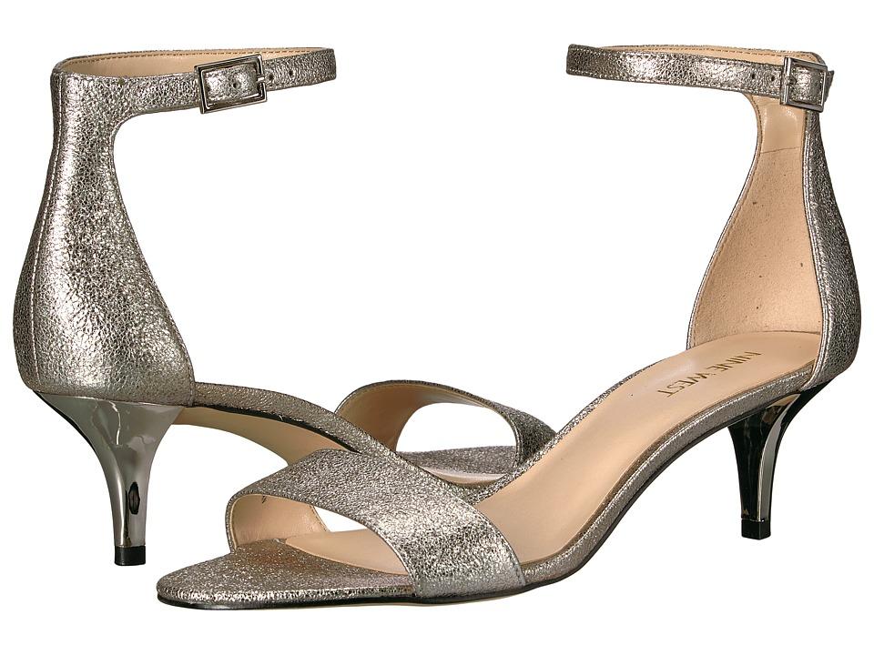 Nine West - Leisa Heel Sandal (Pewter Metallic) Womens Shoes