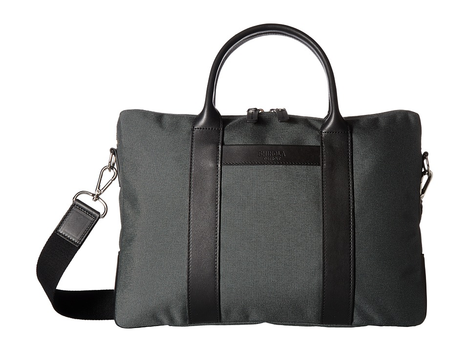 Shinola Detroit Nylon Computer Brief (Charcoal/Black) Computer Bags