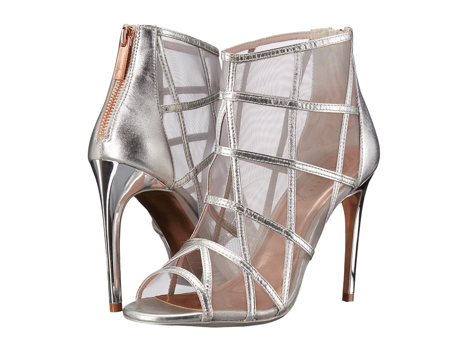 Ted Baker Xstal (Silver Leather) High Heels