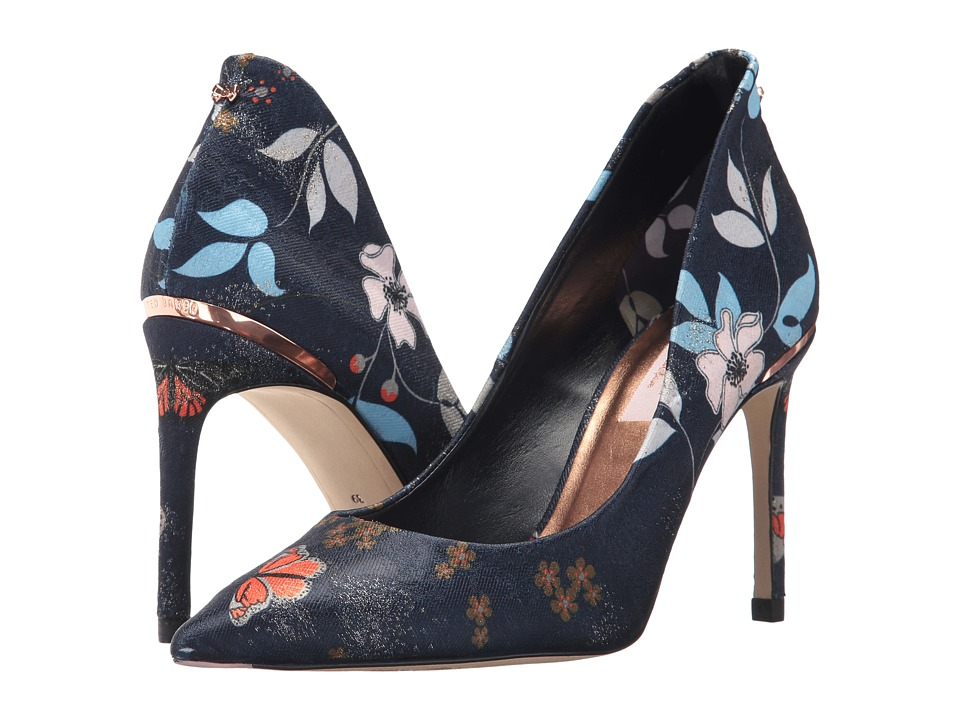 Ted Baker Saviop (Dark Blue Kyoto Textile) High Heels