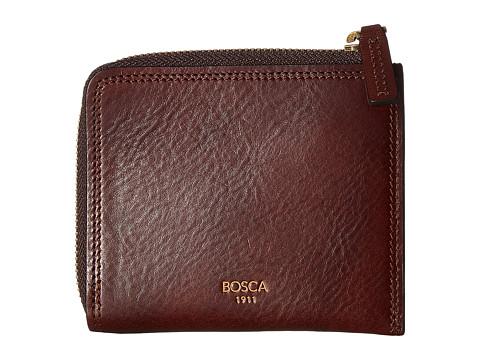 Bosca Dolce Collection - Zip Wallet - Dark Brown