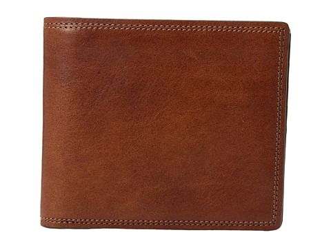 Bosca Dolce Collection - Eight-Pocket Deluxe Executive Wallet w/ Passcase - Amber