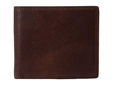 Bosca Dolce Collection - Eight-Pocket Deluxe Executive Wallet w/ Passcase - Dark Brown