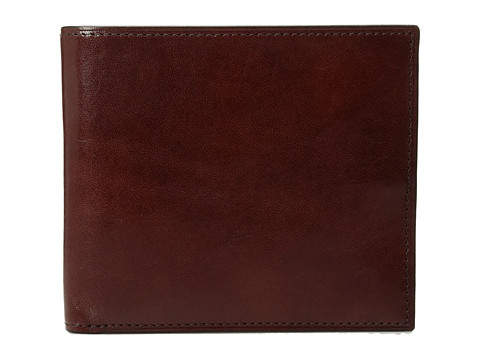 Bosca Old Leather Collection - Eight-Pocket Deluxe Executive Wallet w/ Passcase - Dark Brown