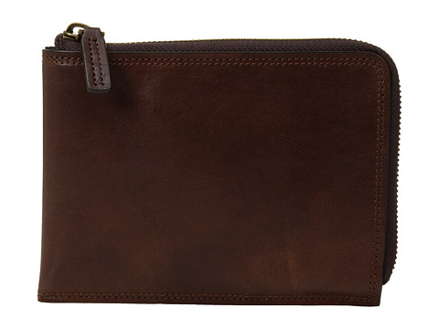 Bosca Dolce Collection - Zip Passport Travel Document - Dark Brown