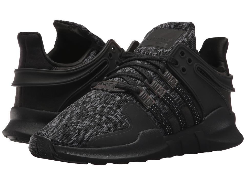adidas Originals Kids EQT Support ADV (Big Kid) (Black) Kids Shoes