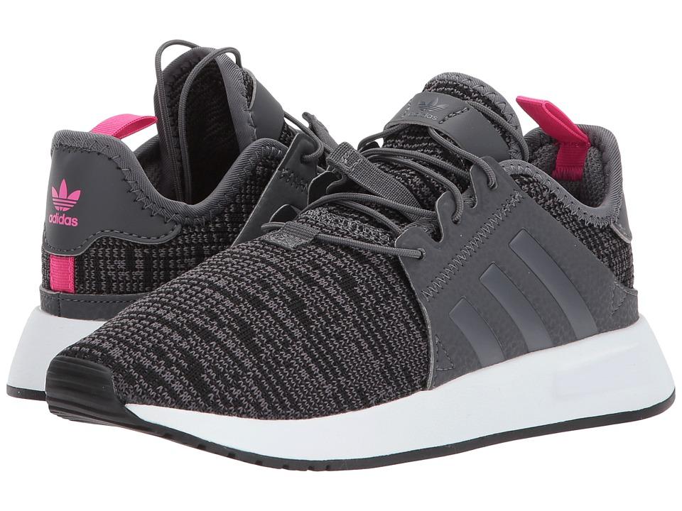 adidas Originals Kids X PLR (Little Kid) (Grey/White) Kids Shoes
