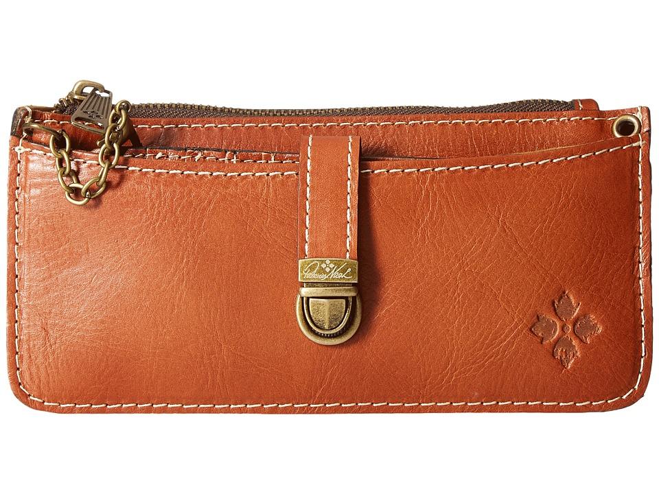 Patricia Nash - Aso Crossbody Organizer Wallet (Tan) Wallet Handbags