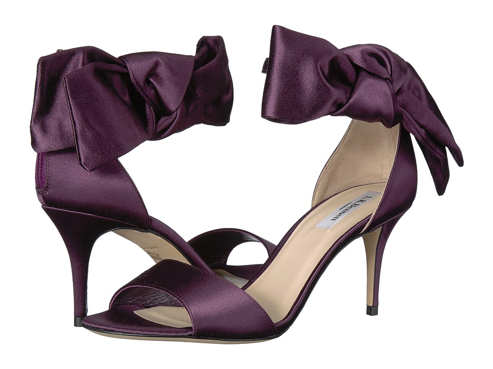 L.K. Bennett - Agata (Pur/Loganberry Satin) Women's Sandals