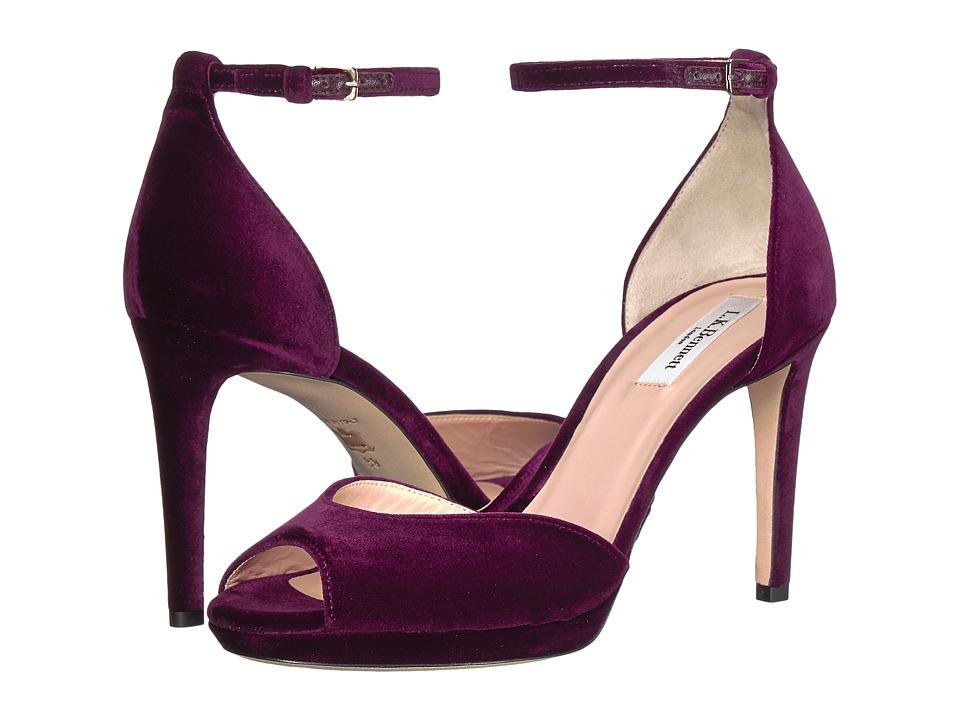 L.K. Bennett Yasmin (Pur/Loganberry Velvet) High Heels