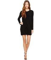 KAMALIKULTURE by Norma Kamali - Long Sleeve Twist Mini Dress
