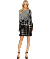 KAMALIKULTURE by Norma Kamali - Long Sleeve Pleated Mini Dress