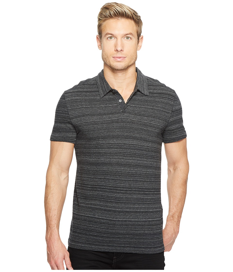 John Varvatos Star U.S.A. John Varvatos Star U.S.A. - Short Sleeve Polo w/ Vertical Pickstitch Detail K3105T2B