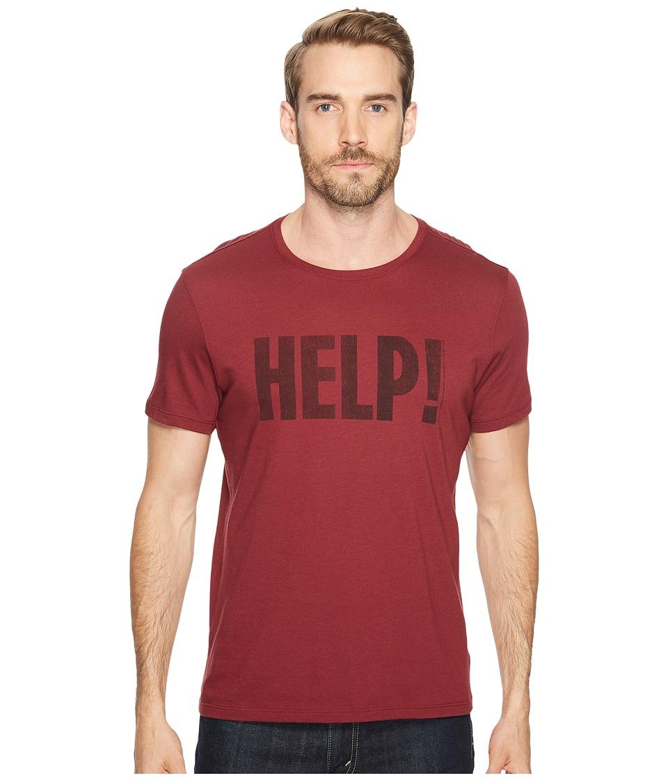 John Varvatos Star U.S.A. Help! Beatles Graphic T-Shirt K3179T2B (Oxblood) Men