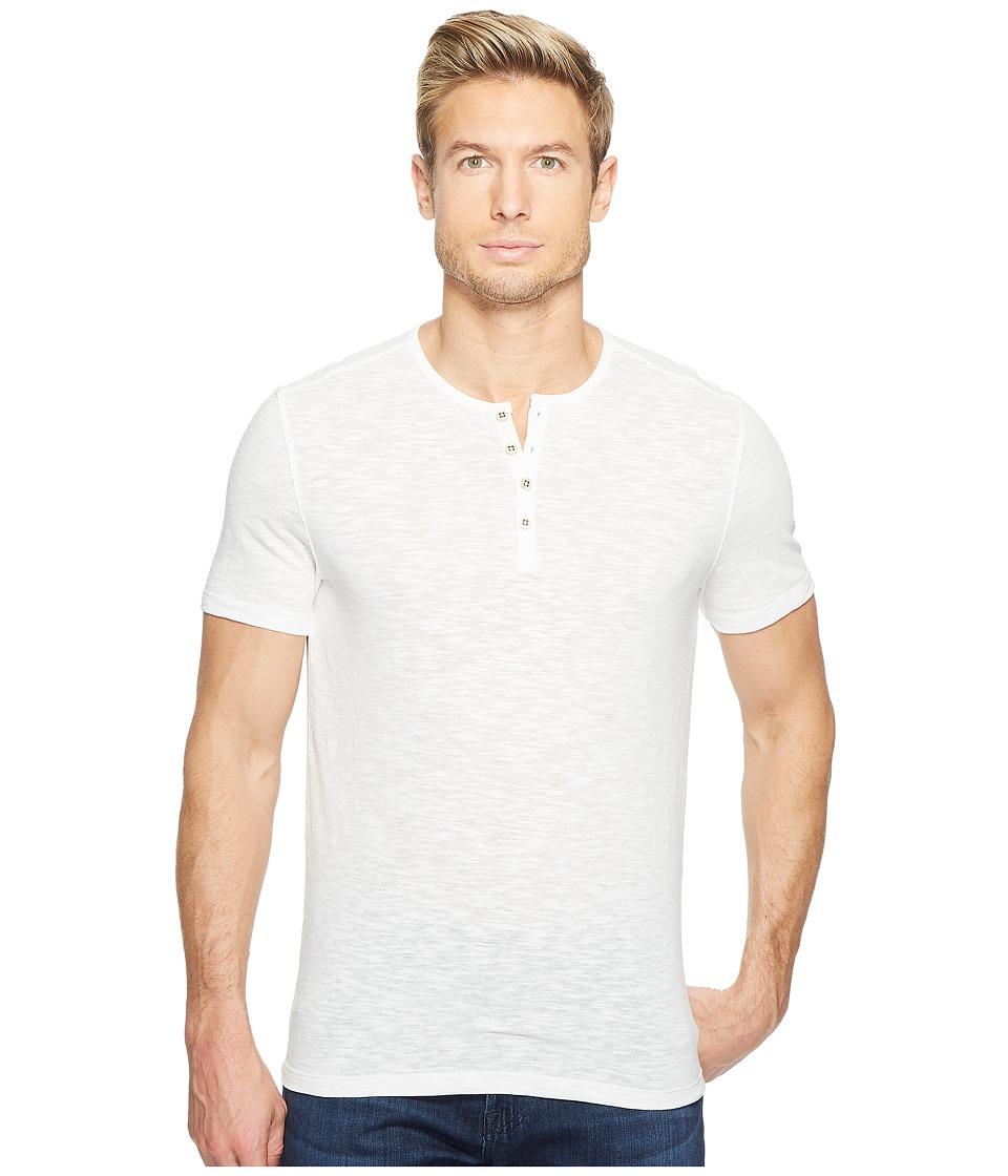 John Varvatos Star U.S.A. Melange Short Sleeve Knit Henley K3167T2L (Salt) Men
