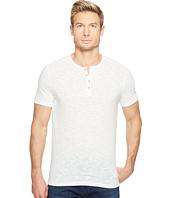 John Varvatos Star U.S.A. - Melange Short Sleeve Knit Henley K3167T2L