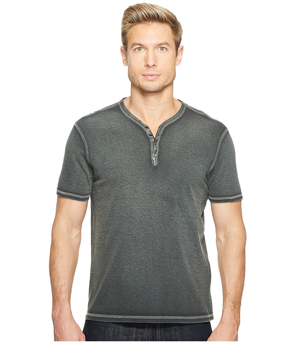 John Varvatos Star U.S.A. John Varvatos Star U.S.A. - Reverse Print Soft Collar Peace Henley w/ Peace Sign K740T2B