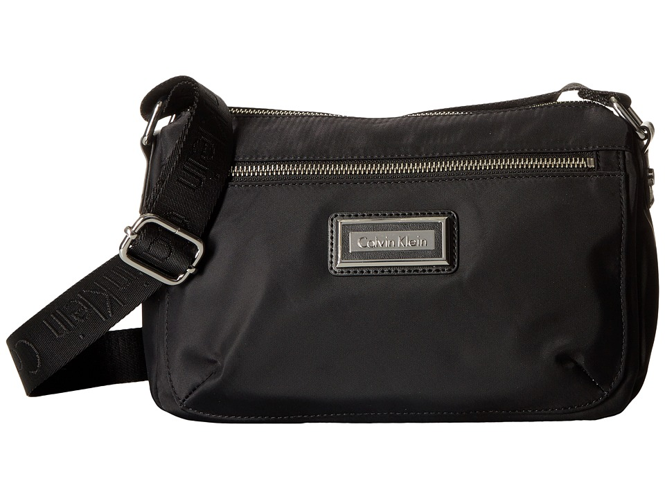 Calvin Klein Belfast Nylon Crossbody (Black/Silver) Cross...