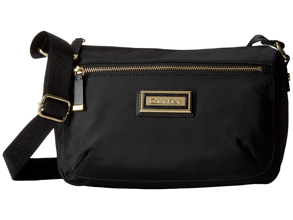 Calvin Klein Belfast Nylon Crossbody (Black/Gold) Cross B...