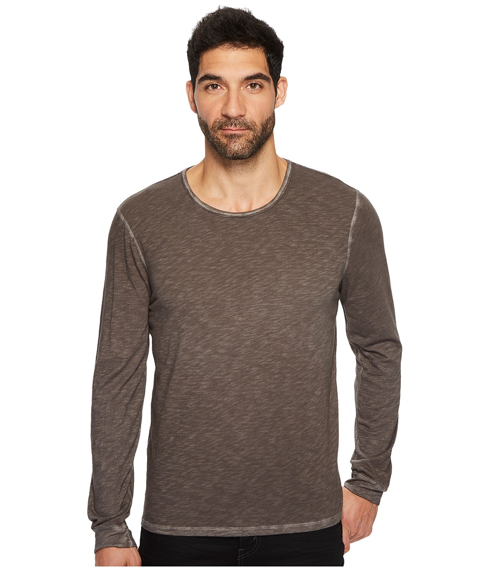 7 For All Mankind - Long Sleeve Raw Crew Neck Tee