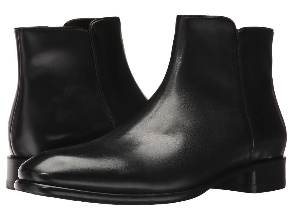 John Varvatos Collection Eldridge Zip Boot (Black) Men