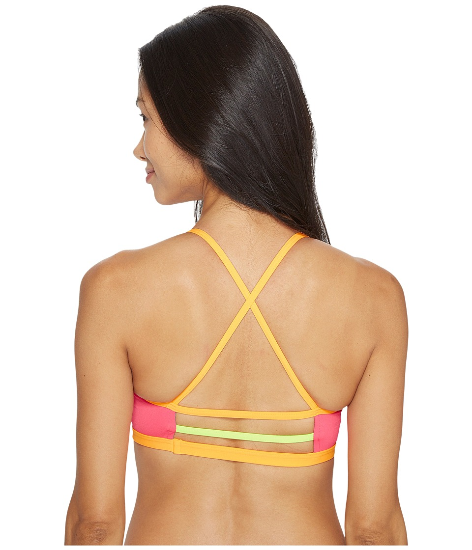 TYR Solid Trinity Top (FL Pink/Orange) Women