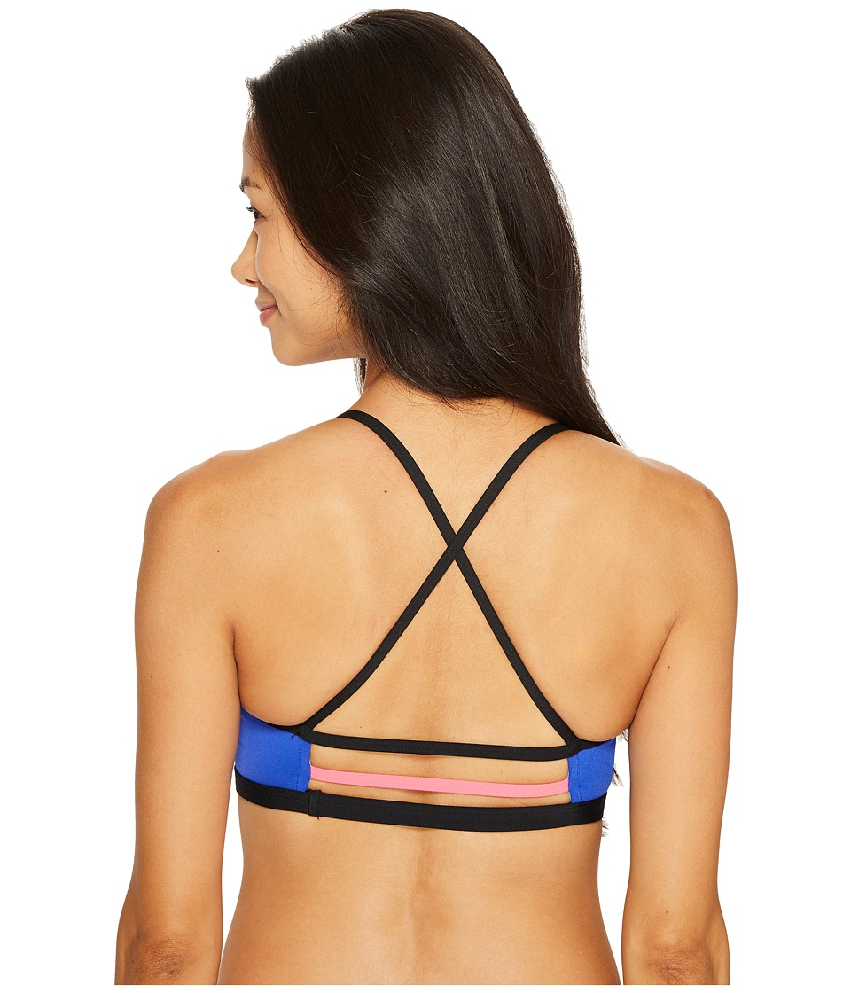 TYR Solid Trinity Top (Royal/Black) Women