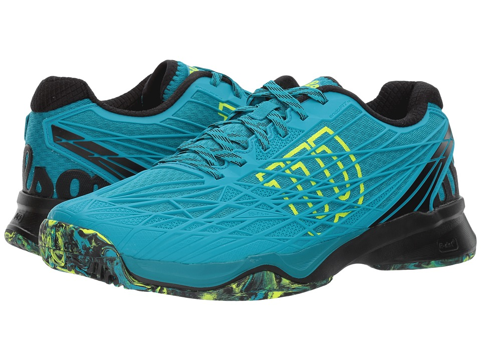 Wilson - Kaos (Enamel Blue/Black/Safety Yellow) Mens Tennis Shoes