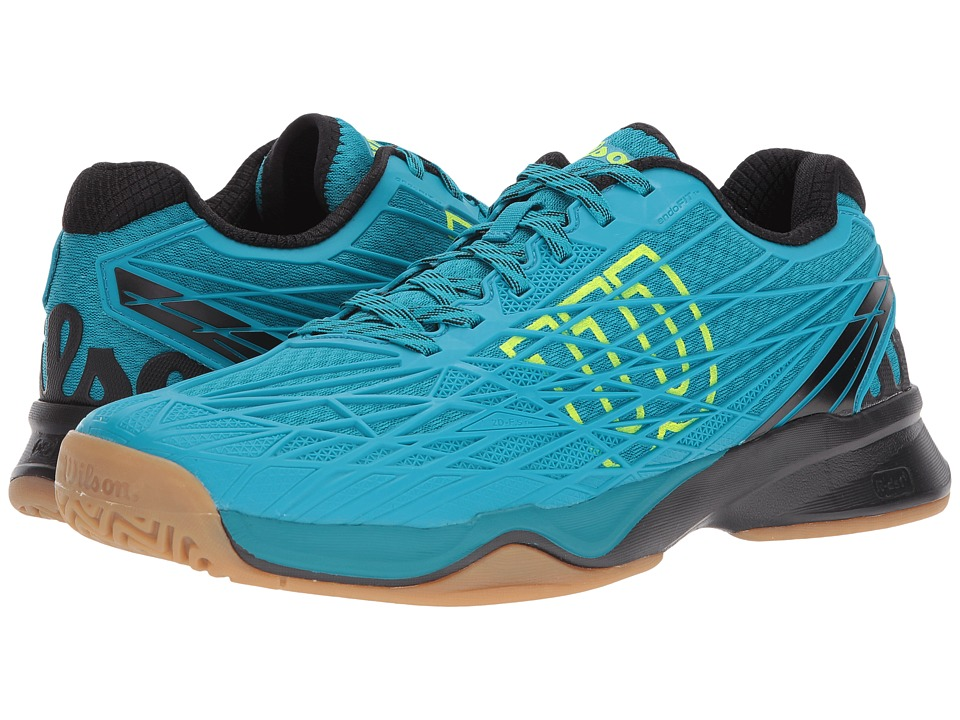 Wilson - Kaos Indoor (Enamel Blue/Black/Safety Yellow) Mens Tennis Shoes